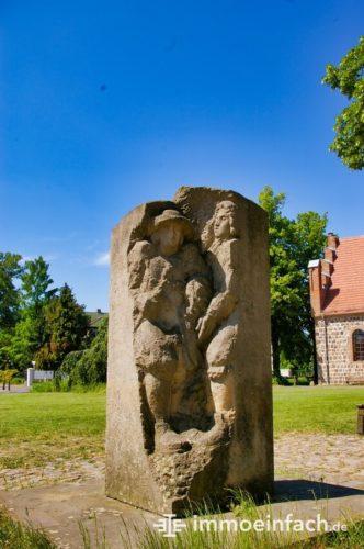 Skulptur Hugenotten Französisch