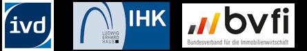 IVD scout24 ihk bvfi Logo Mitgliedschaft immoeinfach
