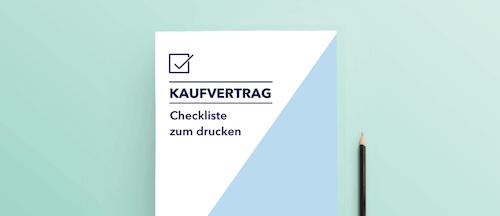 Checkliste Unterlagen Kaufvertrag Vorschaubild Mockup