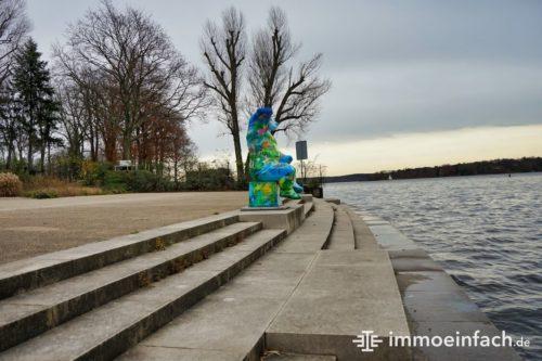Berliner Bär Kladow Ufer Wasser