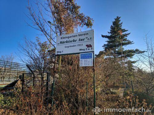 friedrichsfelde kleingarten anlage maerkische aue schild
