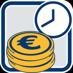 eurozeichen uhr faelligkeit provision