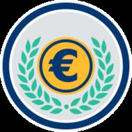 eurozeichen lorbeerenkranz