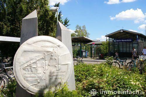 s bahnhof marienfelde fahrrad eingang schild