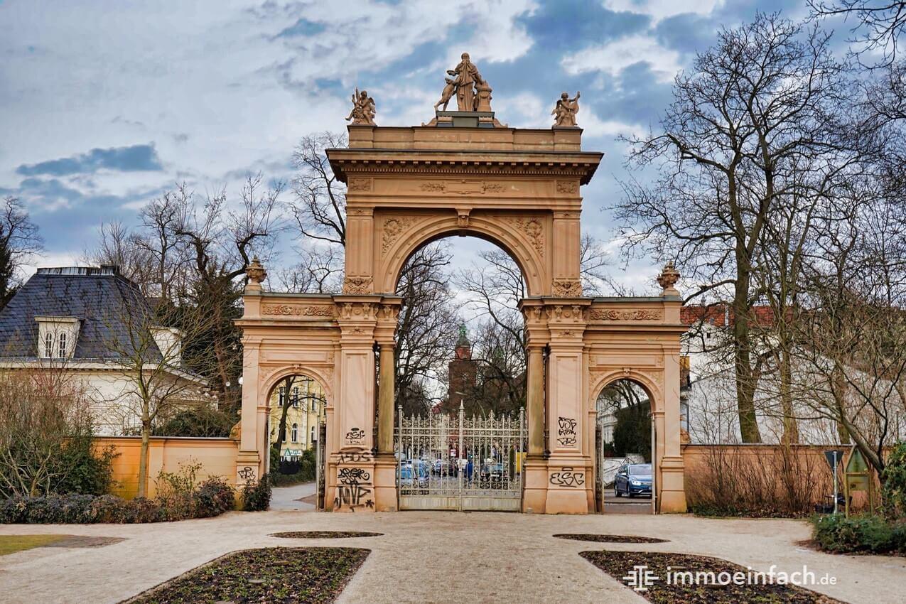 Bürgerpark Bogen Eingang