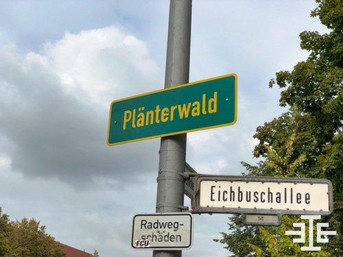 berlin plaenterwald ortseingangschild strassenschild