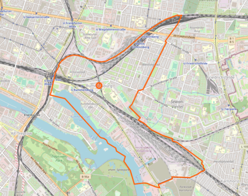 Karte RummelsburgOpenStreetMap