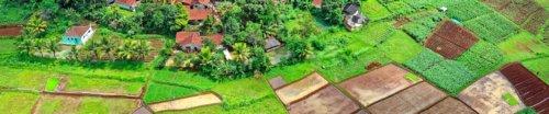 Bild mehrere Grundstücke aus der Flugperspektive