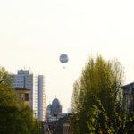 Bepflanzte Straße in Berlin Pankow