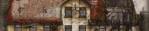 Malerei eines alten Hauses