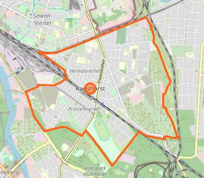 Karte Karlshorst OpenStreetMap