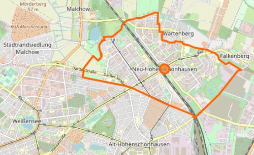 osm neu-hohenschoenhausen karte openstreetmap