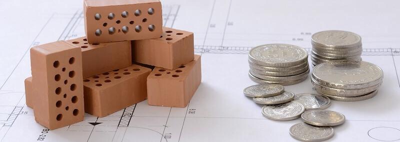 finanzierung backsteine plan münzen