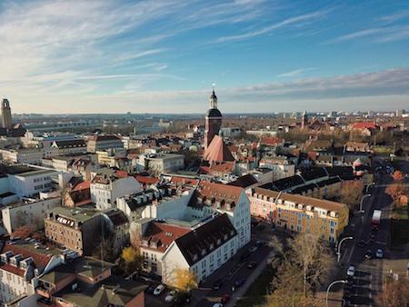 Luftaufnahme von der Altstadt in Spandau