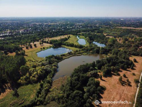 Luftbild Karower Teicher Berlin Natur