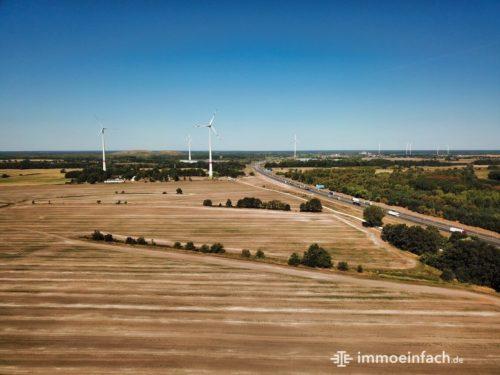 Wind Windkraft Feld Land Drohne