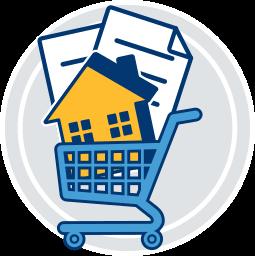 gebuehren tragen einkaufswagen immobilie dokumente